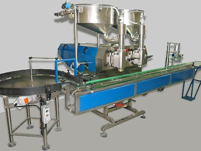2. Automatic volume-dosing two-position filling machine - 0,1÷5,0 л.