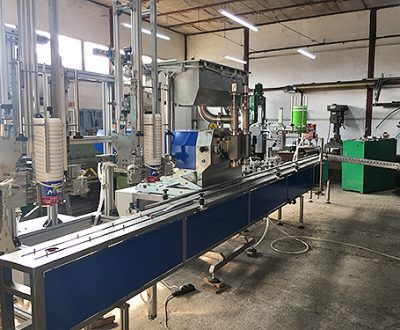 3. Automatic linear two-position volumetric filling line - 0,1÷5,0 л.