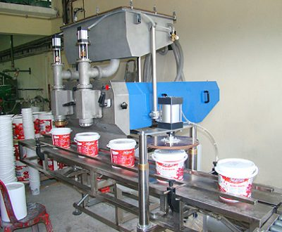 4. Automatic linear two-position volume dosing filling line with supplementation - 1.0 ÷ 18.8 l.